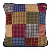 Lakehouse Patchwork Pillow Multi Warm 18 Square