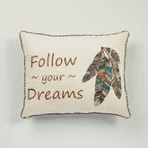 Maverick Embroidered Pillow Multi Warm Rectangle