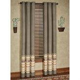 Maverick Grommet Curtain Pair Multi Warm
