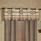 Maverick Wide Grommet Valance Multi Warm 80 x 18