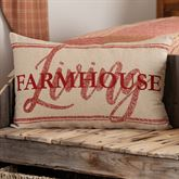 Sawyer Mill Red Farmhouse Living Pillow Dark Red Rectangle