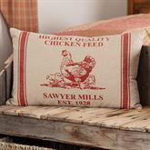 Sawyer Mill Red Chicken Pillow Dark Red Rectangle