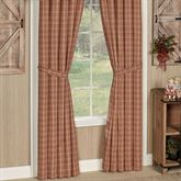 Sawyer Mill Red Tailored Curtain Pair Dark Red