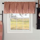 Sawyer Mill Red Layered Valance Dark Red