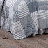 Sawyer Mill Blue Gathered Bedskirt Steel Blue