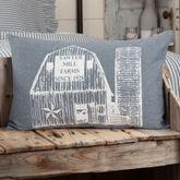 Sawyer Mill Blue Barn Pillow Steel Blue Rectangle