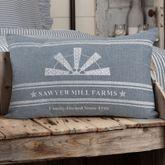 Sawyer Mill Blue Windmill Pillow Steel Blue Rectangle
