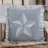 Sawyer Mill Blue Star Flanged Pillow Steel Blue 18 Square