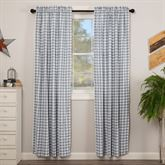 Sawyer Mill Blue Tailored Curtain Pair Steel Blue