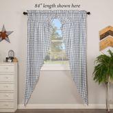 Sawyer Mill Blue Prairie Curtain Pair Steel Blue