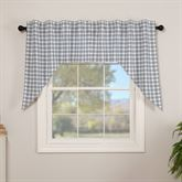 Sawyer Mill Blue Swag Valance Pair Steel Blue 72 x 36