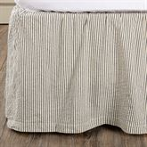 Hatteras Patch Gathered Bedskirt Light Almond