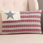 Hatteras Patch Tailored Flag Pillow Dark Red Rectangle