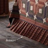 Parker Gathered Bedskirt Burgundy