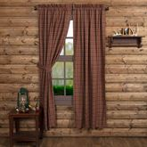 Parker Tailored Curtain Pair Burgundy