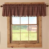 Parker Scalloped Valance Burgundy 90 x 16