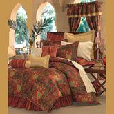 Kalinjar Comforter Set Dark Red