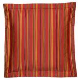 Kalinjar Striped Flanged European Sham Dark Red