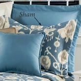 Delhi Ikat Flanged Sham Blue Shadow