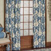 Delhi Wide Tailored Curtain Pair Blue Shadow 100 x 84