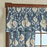 Delhi Tailored Valance Blue Shadow 72 x 16