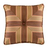 Elephant Walk Tufted Piped Pillow Rosewood 17 Square
