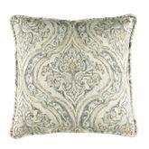 Marsala Medallion Piped Pillow Dark Gray 17 Square