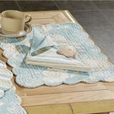 Natural Shells Scallop Placemat Set  Set of Four