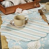 Natural Shell Round Placemat Set  Set of Four