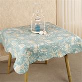Natural Shell Quilted Table Topper  54 x 54