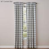 Wicklow Curtain Panel Pair Gray