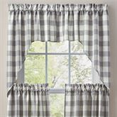 Wicklow Swag Valance Pair Gray 72 x 36
