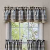 Prairie Wood Scalloped Valance Light Blue 72 x 16