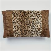 Serengeti Fringed Tailored Pillow Multi Warm Rectangle