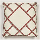 Wintersong Piped Pillow Ecru 18 Square