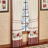 Wintersong Tailored Curtain Pair Ecru 84 x 84