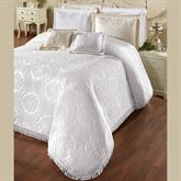Elegant Medallion Grande Bedspread White
