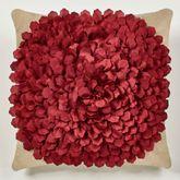 Prestige Blossom Tailored Pillow Dark Red 18 Square