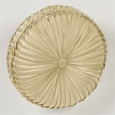 Francesca Tufted Pillow Light Gold Round