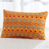 Cozumel Striped Embroidered Pillow Orange Rectangle