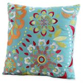 Cozumel Medallion Embroidered Pillow Turquoise 20 Square