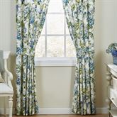 Floral Engagement Wide Curtain Pair Blue 100 x 84