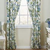 Floral Engagement Wide Curtain Pair Blue 100 x 84