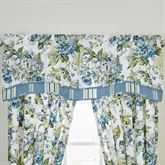 Floral Engagement Shaped Valance Blue 52 x 18