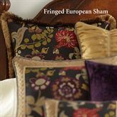 Escapade Fringed Sham Black European