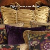Escapade Shirred Corded Sham Antique Gold European