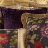 Escapade Flanged Pillow Plum 20 Square