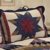 Prairie Star Patchwork Quilted Sham Multi Warm Standard