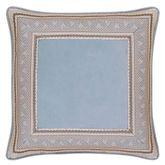 Jordyn Olivia Framed Piped Pillow Cerulean Blue 20 Square
