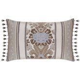 Jordyn Olivia Tasseled Tailored Pillow Light Almond Rectangle